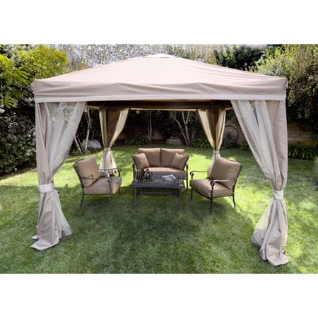 10 X Pitched Roof Line Portable Patio Gazebo
