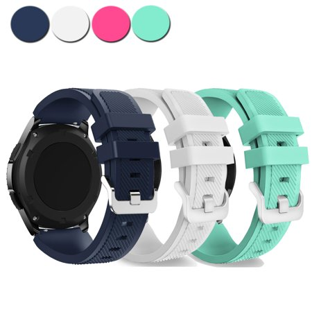 Gear S3 Bands, EEEKit 3 Pcs Silicone Sport Replacement Watch Straps for Samsung Gear S3 Frontier SM-R760/ Gear S3 Classi