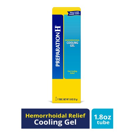 Preparation H Hemorrhoid Symptom Treatment Cooling Gel with Vitamin E and Aloe, Fast Discomfort Relief (1.8