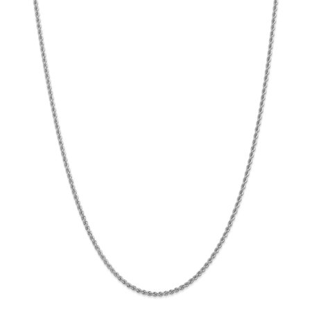 14k Solid Gold 2.25mm Handmade Regular Rope Chain Necklace Handmade Regular Rope Chain