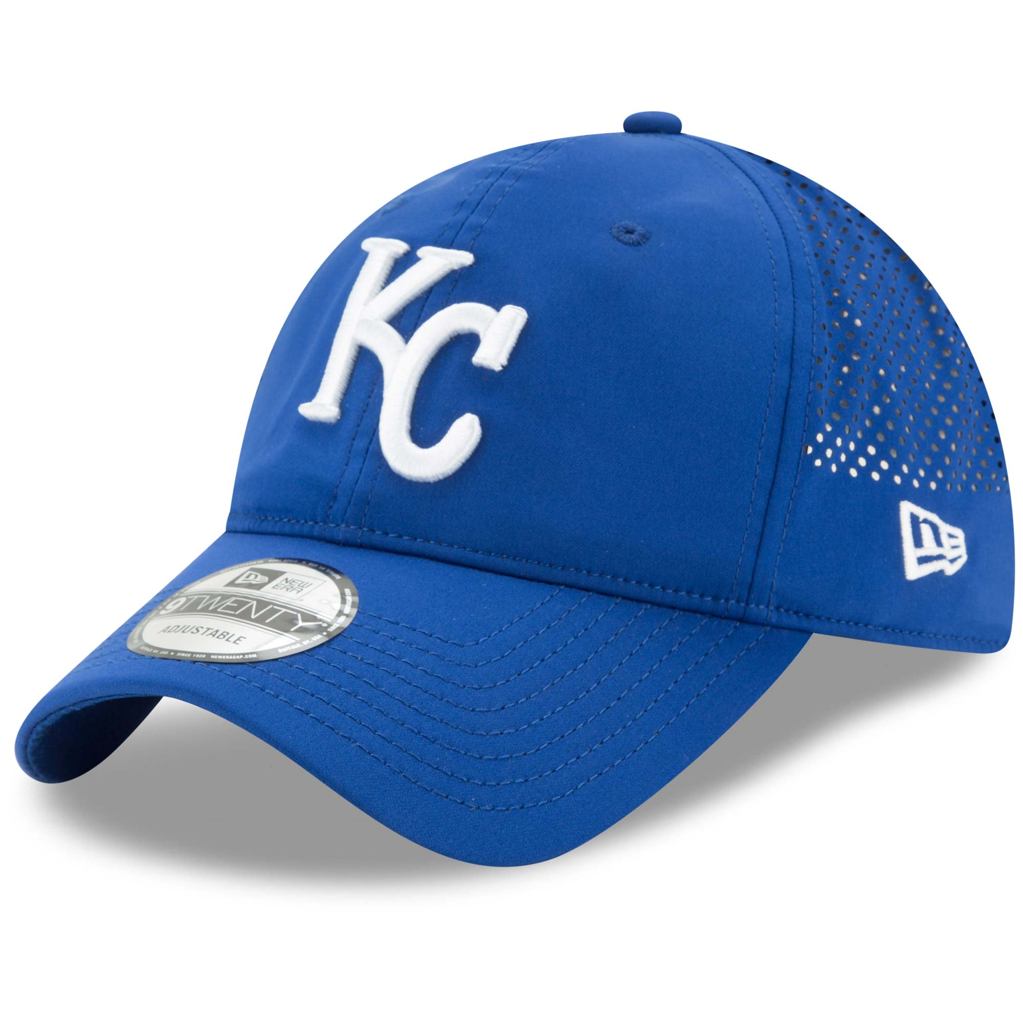 Kansas City Royals New Era Perforated Pivot 2 9TWENTY Adjustable Hat - Royal - OSFA