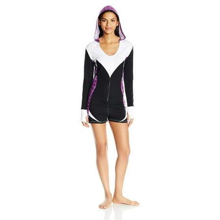 Marvel Women's Spider Gwen Romper, Black, Size: XLarge for $<!---->