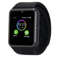 Black Bluetooth Smart Wrist Watch Phone mate for Android Samsung Touch Screen Blue Tooth SmartWatch with Camera for Adults for Kids (Supports [does not include] SIM+MEMORY CARD) GT08 AMAZINGFORLESS