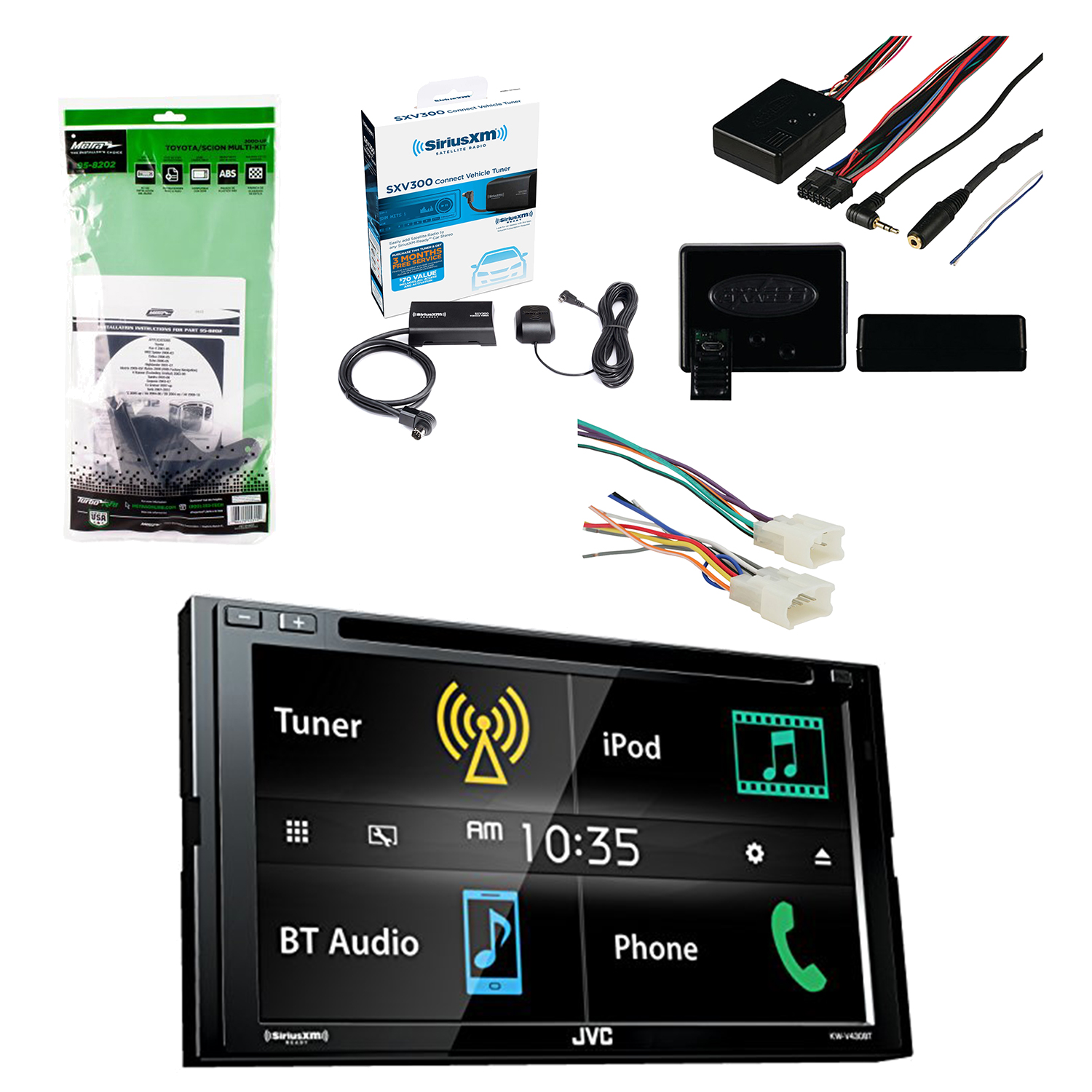 Universal Car Radio Wiring Harness Electrical Diagrams Jvc 6 8 Inch Lcd Touchscreen 2 Din Bluetooth Stereo Receiver W Water Pump