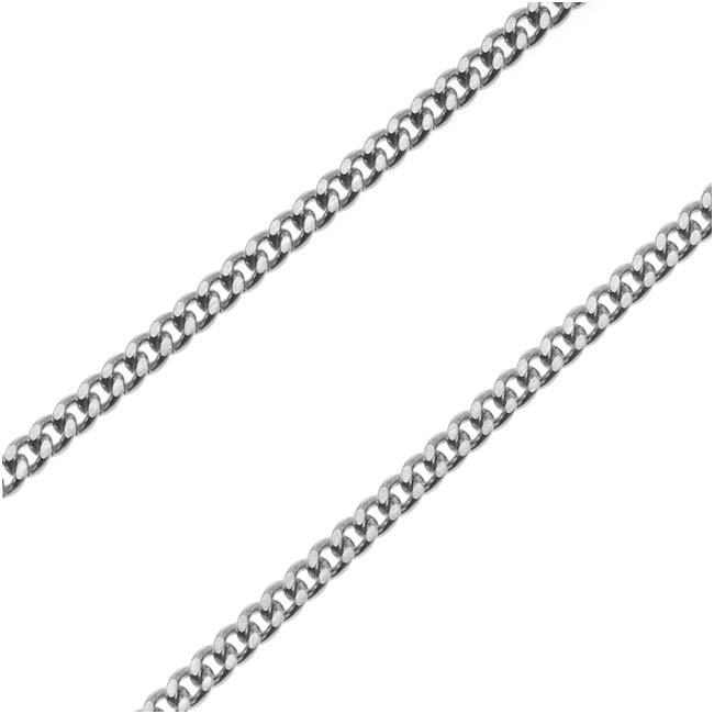 Stainless Steel 1.8mm Curb Chain 24 In Necklace Endless
