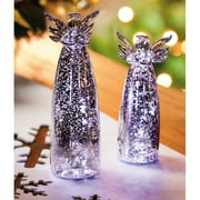 Cypress Home 2 Piece LED Heavenly Glow Angel Sitabout Set (Set of 2)