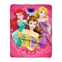 "Disney Princess ""Smart & Strong"" Silk Touch Throw, 40""x50"""