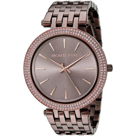 Michael Kors Women S Darci Pave Sable Stainless Steel Bracelet Watch Mk3416