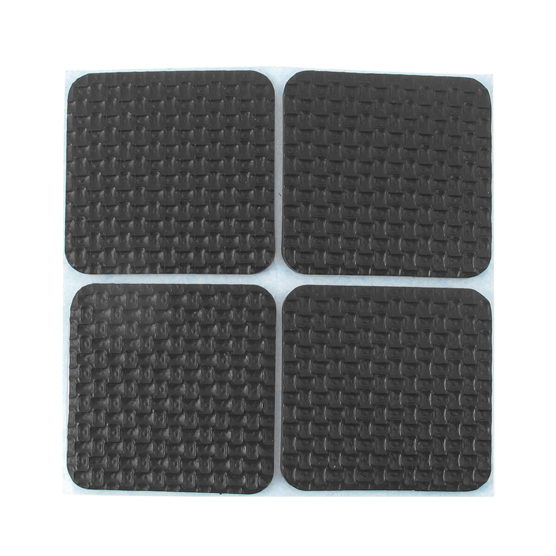 Unique Bargains 4 Pcs Antislip Foam Square 42mm x 42mm Adhesive Chair Foot Cover Table Furniture Leg Protector Black