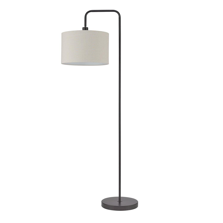 "Globe Electric Barden 58"" Dark Bronze Floor Lamp with Beige Fabric Shade, 67395"
