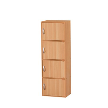Hodedah Imports 1.33 ft. 4 Door Cabinet