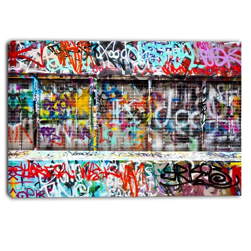 Design Art 'Colorful Graffiti Street' Graphic Art Print on Wrapped Canvas
