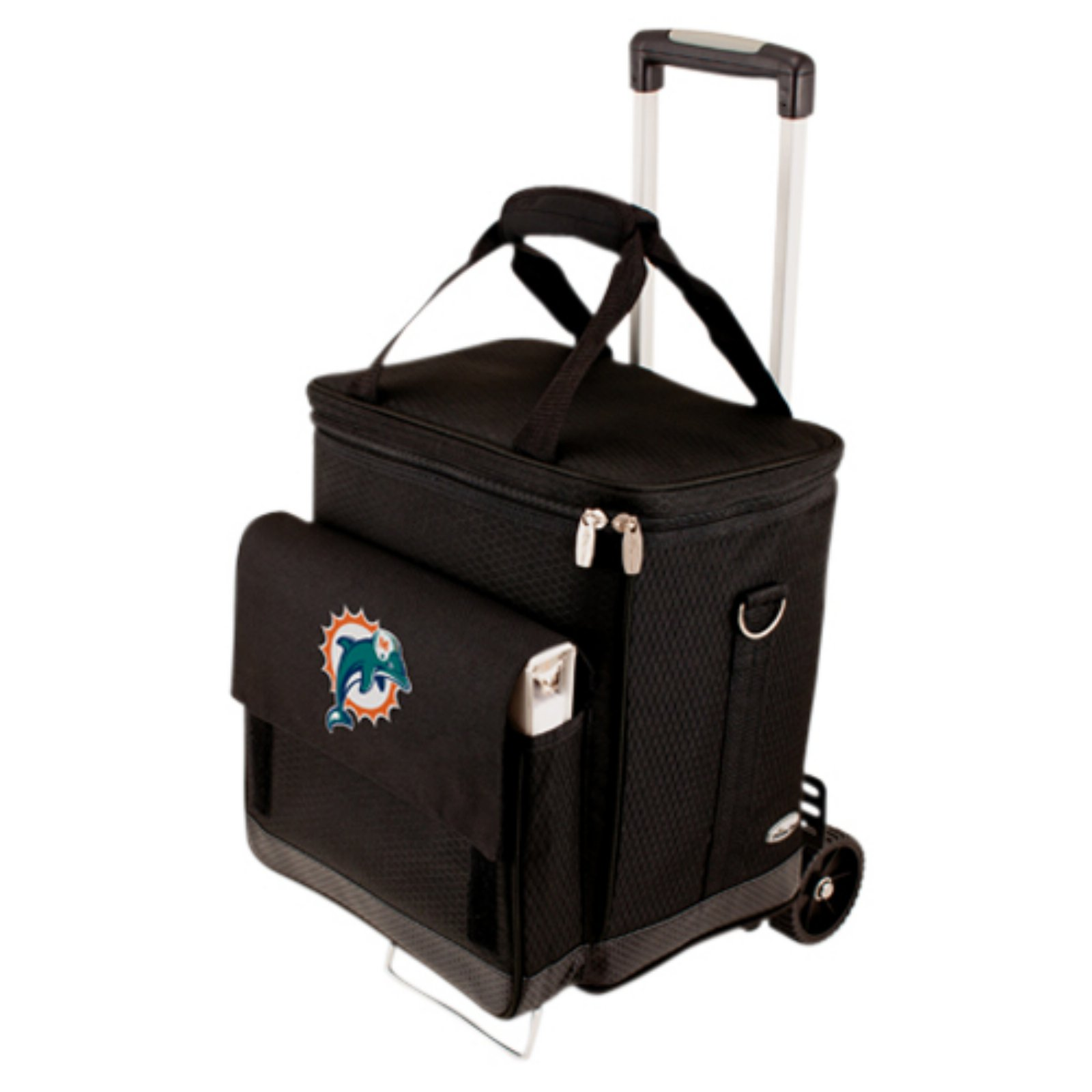 Picnic Time Cellar with Trolley, Black Miami Dolphins Digital Print