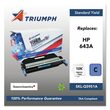 Q5951a Replacement (Triumph 751000NSH0284 Remanufactured Q5951A (643A) Toner, Cyan)