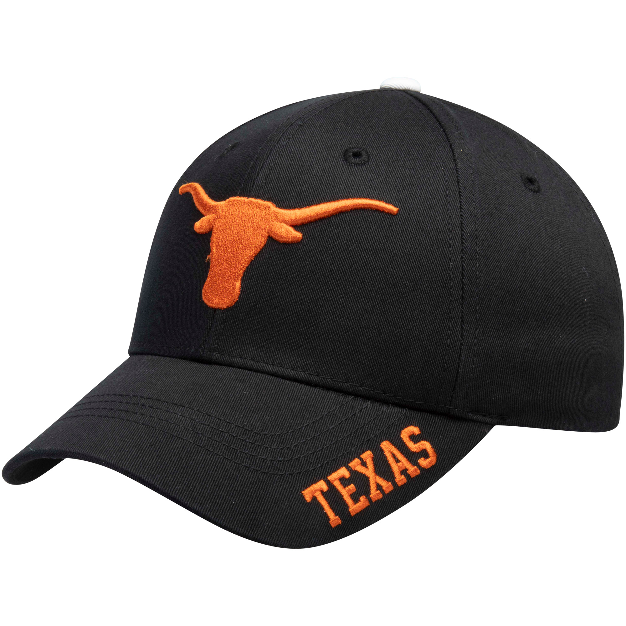 Men's Black Texas Longhorns Kingman Adjustable Hat - OSFA