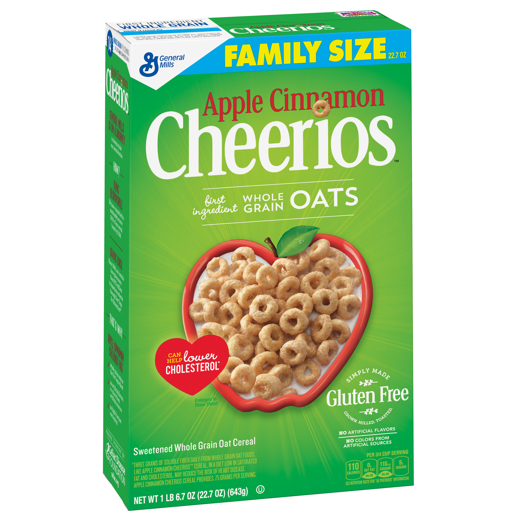 Apple Cinnamon Cheerios Gluten Free Breakfast Cereal, 22.7 oz