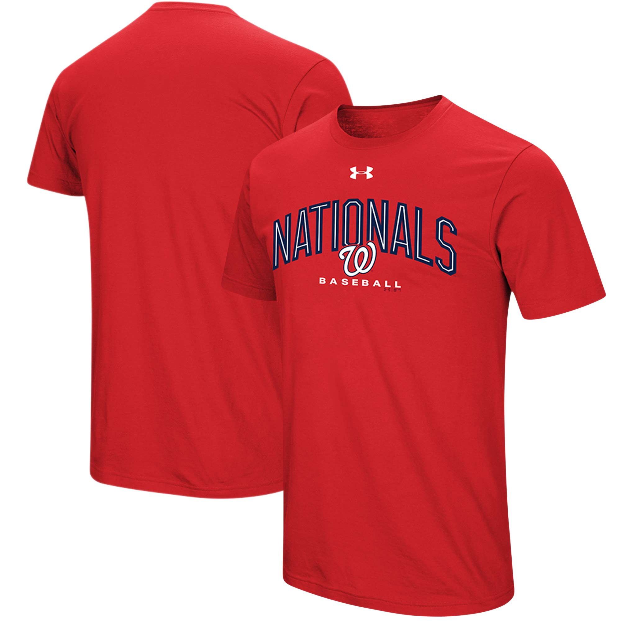 Washington Nationals Under Armour Performance Arch T-Shirt - Red