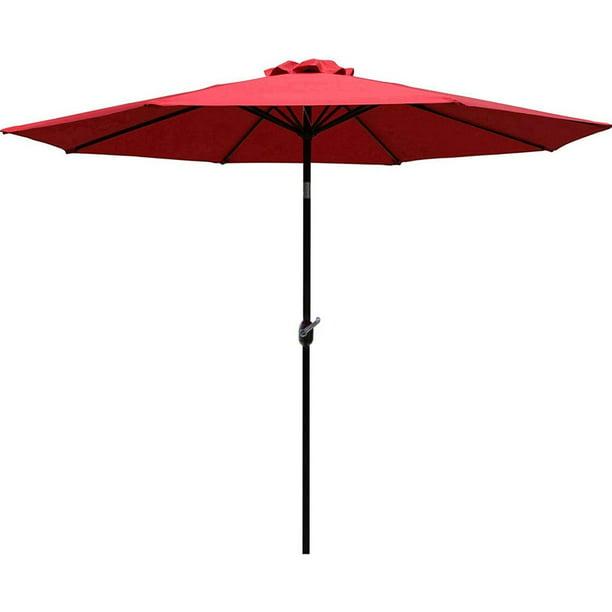 Sunnyglade 9 Patio Umbrella Outdoor, Red Patio Table Umbrella