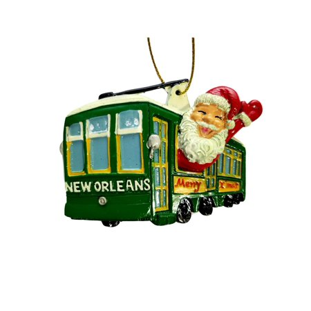 Streetcar Santa New Orleans Merry Christmas Ornament Party Favors](Wedding Supplies New Orleans)