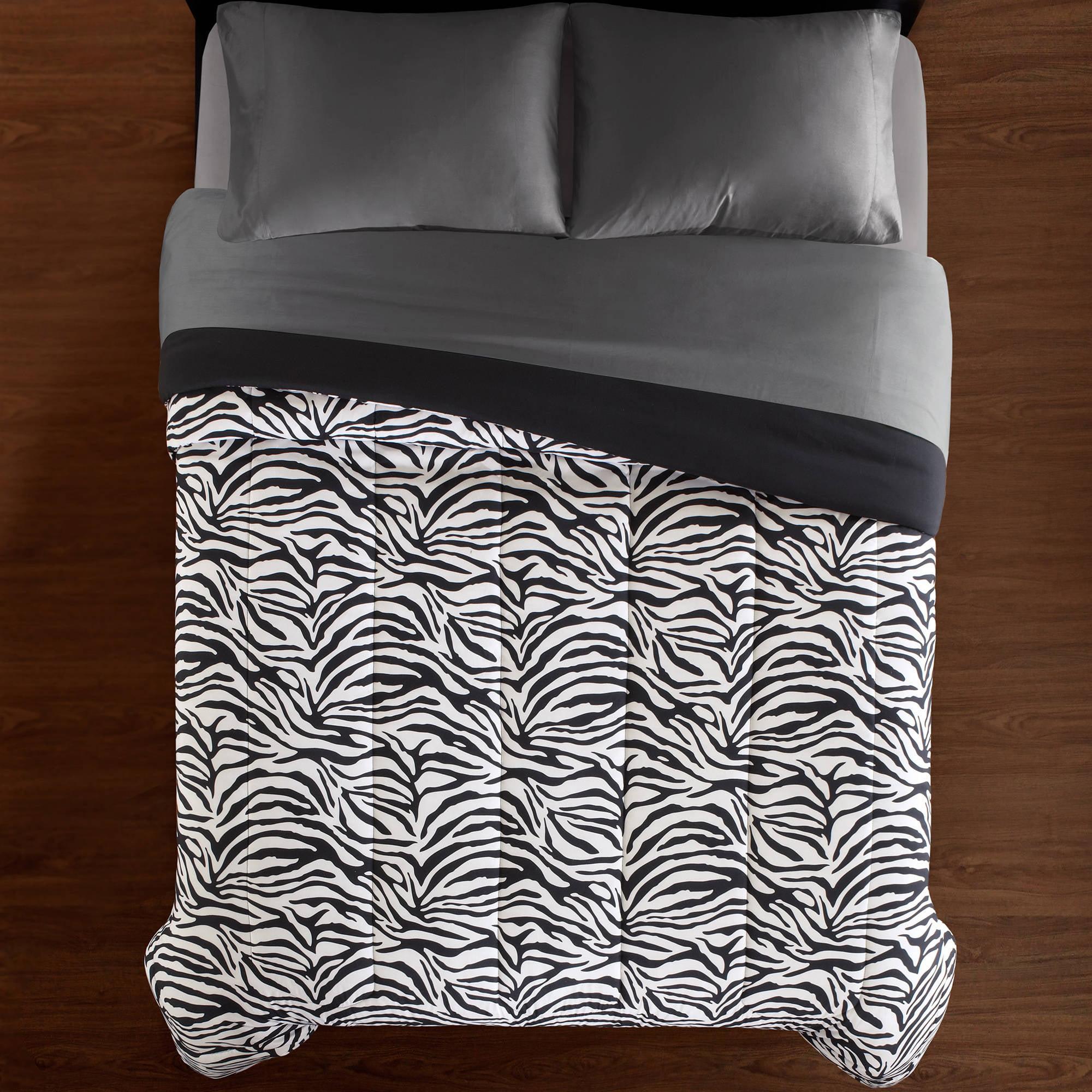 Mainstays Zebra Print Soft Microfiber Bedding Comforter