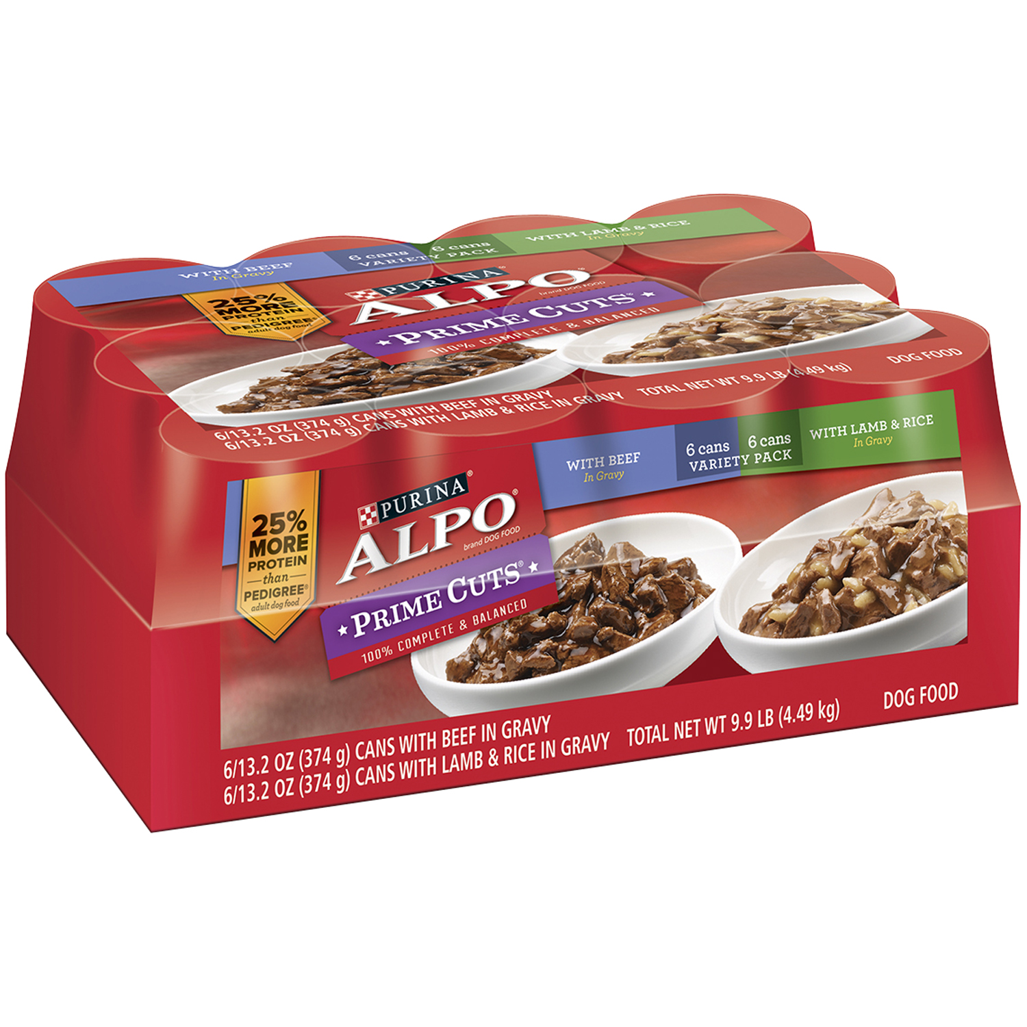 Purina ALPO Prime Cuts Variety Pack Dog Food 12-13.2 oz. Cans