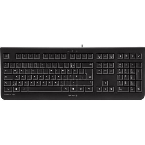 Cherry JK-0800 Economical Corded Keyboard - Cable Connectivity - USB Interface - 104 Key - Calculator, Email, Browser,