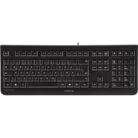 Cherry JK-0800 Economical Corded Keyboard Cable Connectivity USB Interface 104 Key Calculator, Email, Browser, by