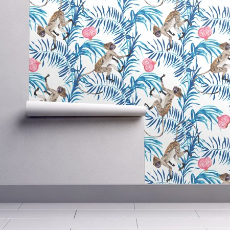 Wallpaper Roll or Sample: Monkey Palm Tropical Fruit Jungle Pomegranate