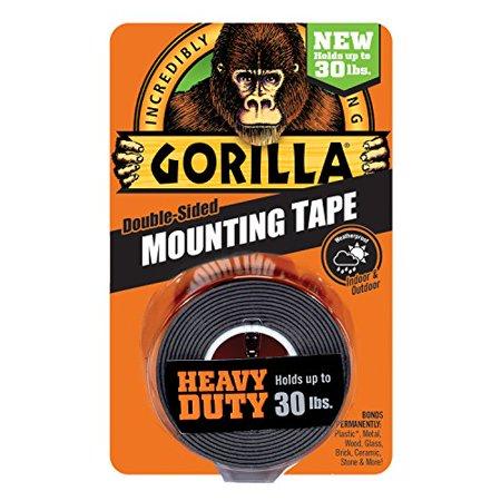 Gorilla Heavy Duty Mounting Tape, Double-Sided, 1