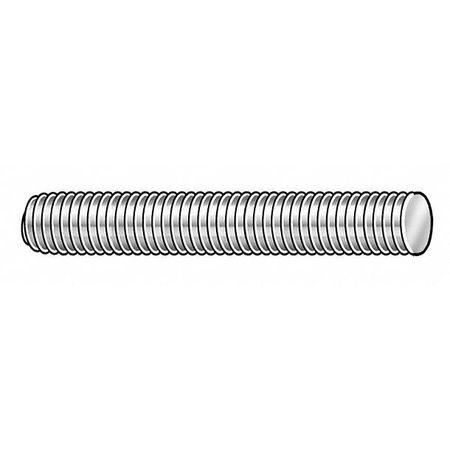 GRAINGER APPROVED S4.00603201.PL.DAR Threaded Rod,304 SS,#6-32x1 ft