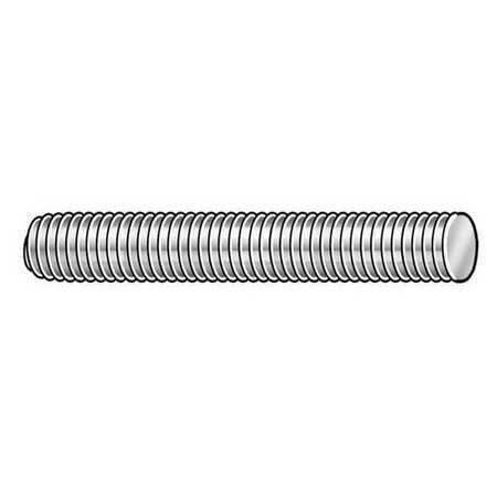GRAINGER APPROVED M14-2.0 x 1 m Zinc Plated Low Carbon Steel Threaded Rod, LC.M1420001.ZP.DAR