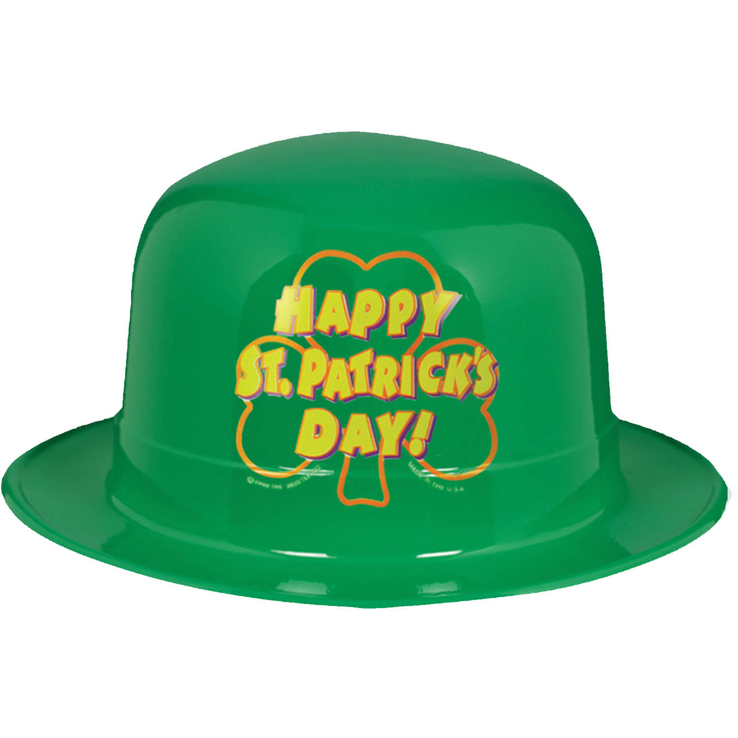 5-Pack Plastic St. Patrick's Day Hats Adult Halloween Accessory
