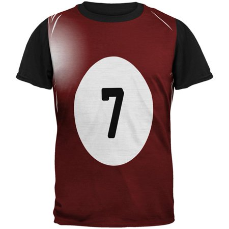 Halloween Billiard Pool Ball Seven Costume Mens Black Back T Shirt](Kd 7 Halloween)