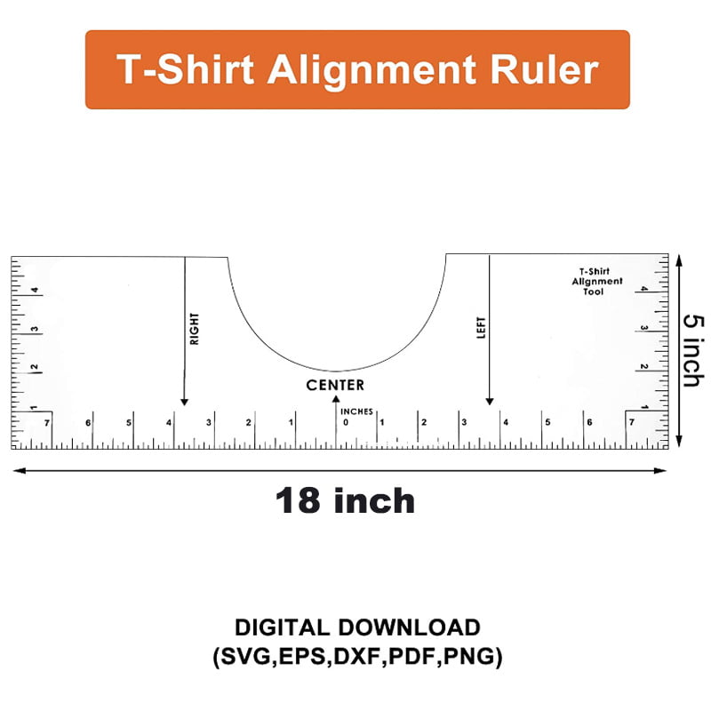 T Shirt Ruler Guide 18 T Shirt Alignment Guide Sublimation Designs On T Shirt Vinyl Ruler Guide Size Chart T Shirt Ruler Guide For Vinyl And Sublimation Walmart Com Walmart Com