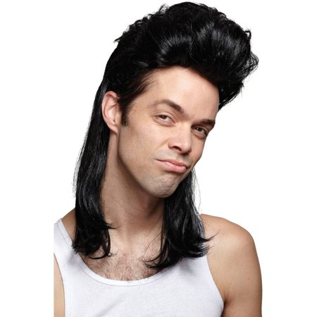 Nightclub Mullet Wig Adult Halloween Accessory](Halloween Nightclub Ideas)