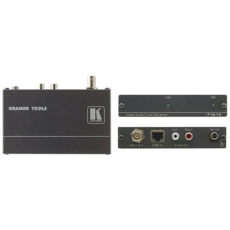 (Kramer 718-15 Composite Video & Stereo Audio Receiver w/7-Yr Warranty)