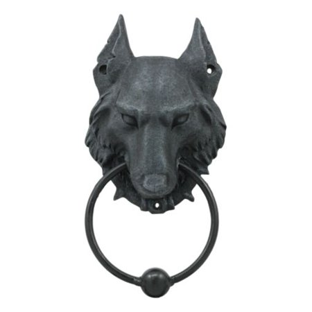 Gargoyle Ball - Ebros Full Moon Gothic Chained Wolf Gargoyle Door Knocker Figurine 8.25