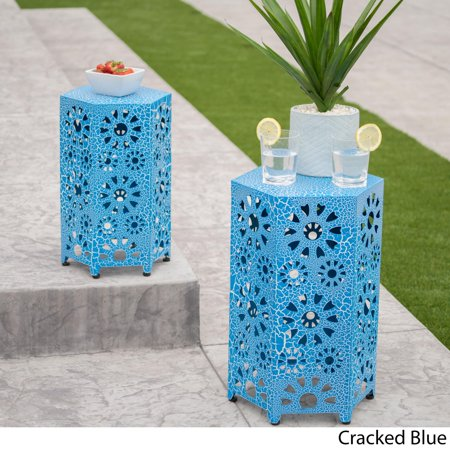 Christopher Knight Home Eliana Outdoor 12-inch and 14-inch Nested Side Table Set by ()