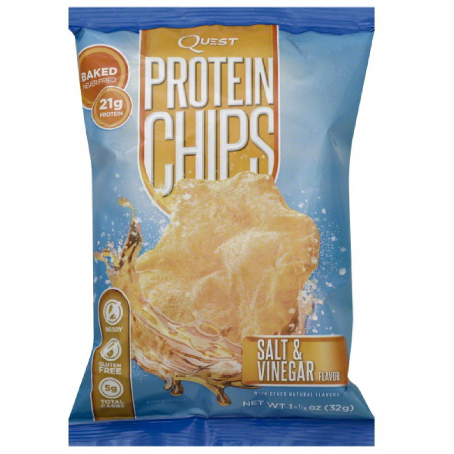 Quest Salt & Vinegar Flavor Protein Chips, 1.125 oz, (Pack of 24)