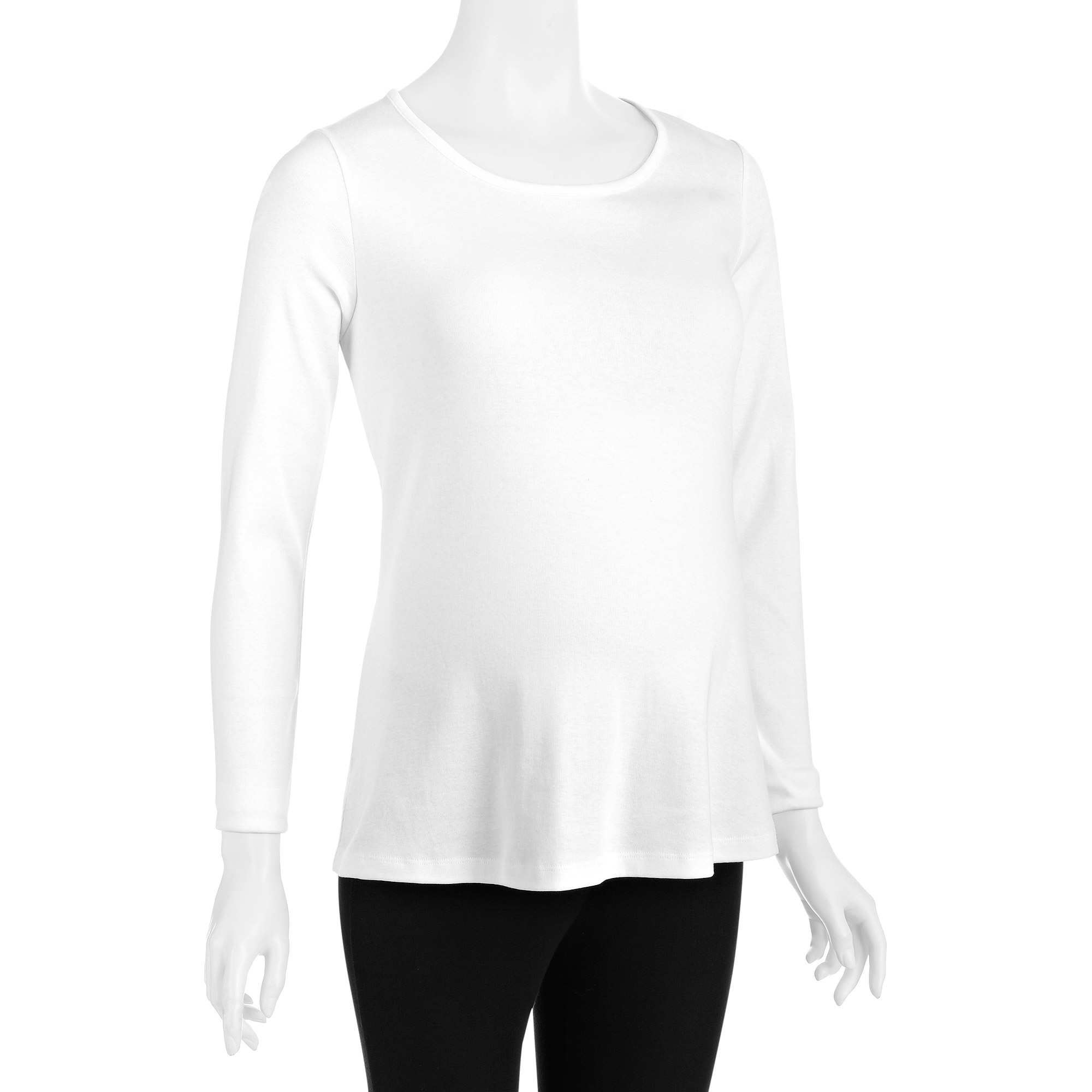 White Stag Maternity Basic Essential Long Sleeve Crew Neck Tee
