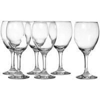 Madison - 8.25 Ounce White Wine Glasses | Empire Collection – Thick and Durable – Dishwasher Safe – Perfect for Parties, Weddings, and Everyday – Great Gift Idea – Set of 6 Small White Wine Glasses