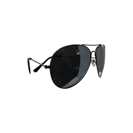 Police Officer Cop Sunglasses Aviator Sun Glasses Costume Chrome Silver (Police Glasses Frames Uk)