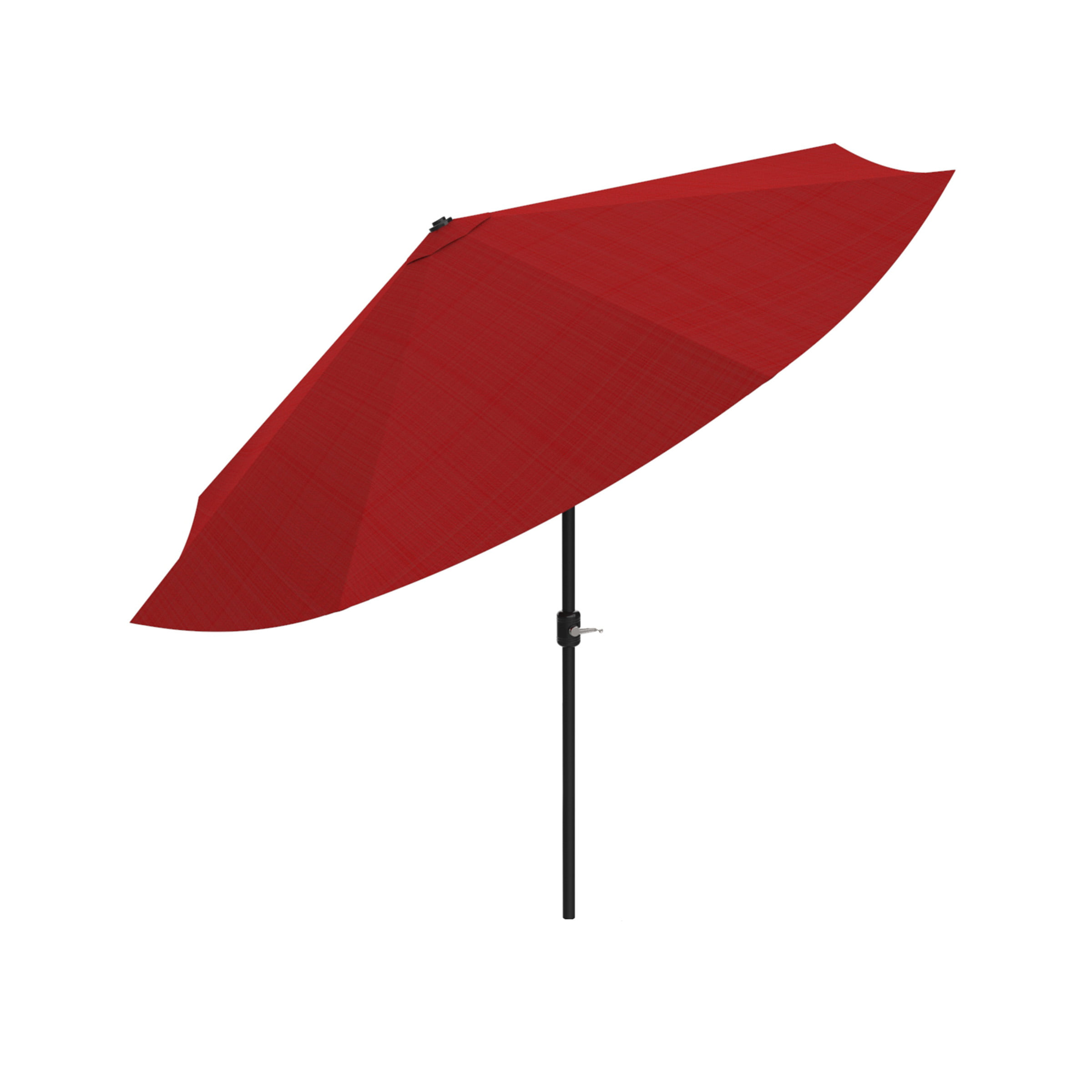 Patio Umbrella, Shade with Easy Crank and Auto Tilt Outdoor Table Umbrella for Deck,... by Trademark Global LLC