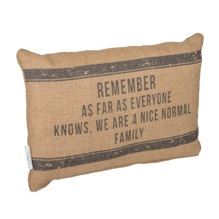 Nice Normal Family 12 x 8 Burlap Decorative Throw Pillow ()