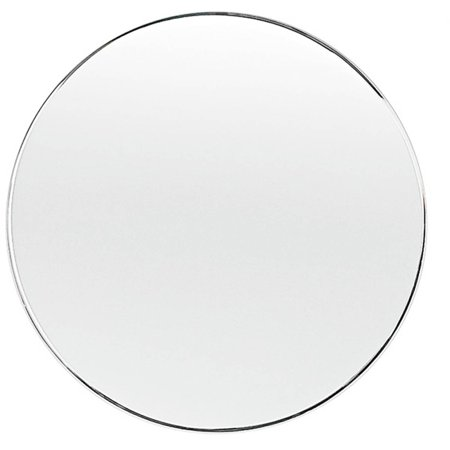 18 Round Beveled Polished Frameless Wall Mirror With Hooks