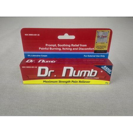 Dr  Numb 5% Lidocaine Cream for Skin Numbing Tattoo, Waxing