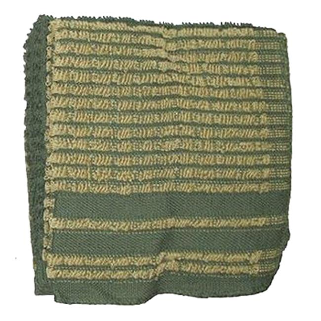 J & M Home Fashions 7428 13 x 13 inch Green 100 Percentage Cotton Dish Cloths - 4 Pack, Pack Of 3
