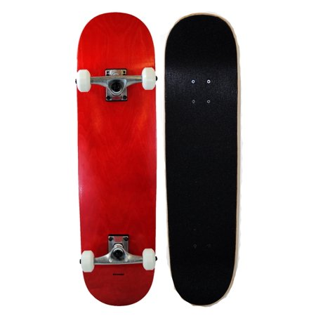 Runner Sports Complete Full Size Standard Maple Deck Skateboard - Red ()