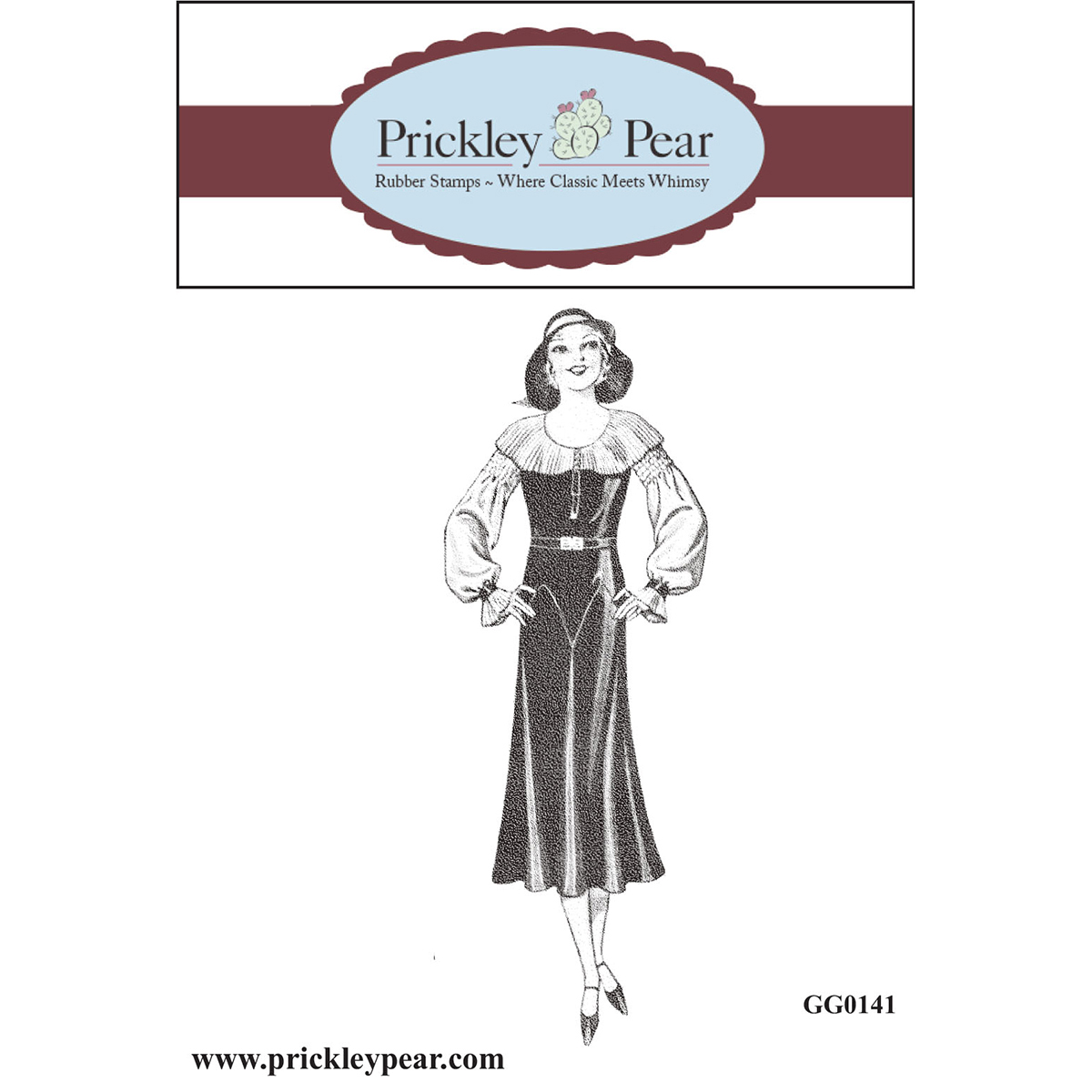"""Prickley Pear GG0141  Cling Stamps 1.25""""X3.5""""-Carmella"""