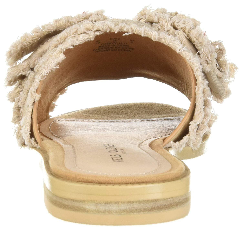 Kelsi Dagger Brooklyn Women's Revere Flat Sandal, Tan, Size 9.0